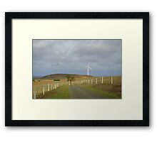 Farming the wind Framed Print