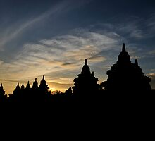 Sunrise at Borobudur by pixelninja3000