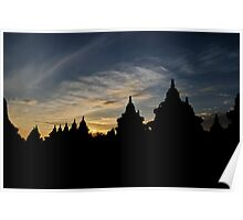 Sunrise at Borobudur Poster