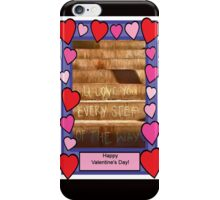 Every Step Valentine iPhone Case/Skin