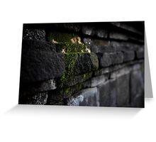 Stonework at Borobudur Greeting Card