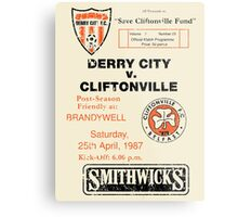 Derry City vs Cliftonville Retro Match Programme Metal Print