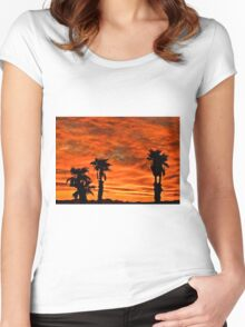 Welcome Home Sunset Women's Fitted Scoop T-Shirt
