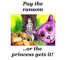 """""""Pay the ransom, or the Princess gets it!""""   Photographic Print"""