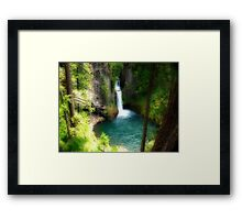 Waterfall In The Grotto Framed Print
