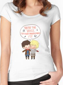 You're the Voice Try and Understand It! Women's Fitted Scoop T-Shirt