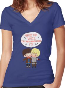 You're the Voice Try and Understand It! Women's Fitted V-Neck T-Shirt