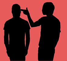Twenty One Pilots Guns for Hands Silhouette by Hannah Marland