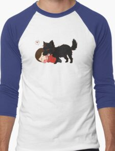 Alpha Kisses Men's Baseball ¾ T-Shirt