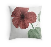 Hibiscus flower hand drawn Throw Pillow