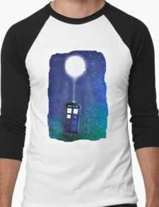 Doctor Who ~  Flying Tardis Men's Baseball ¾ T-Shirt