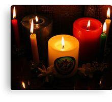 Candle Flames Canvas Print