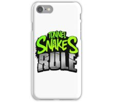 """FALLOUT 3 - """"Tunnel Snakes Rule"""" Cool Typography Videogame T-Shirt Design iPhone Case/Skin"""