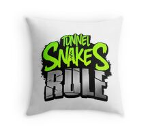 """FALLOUT 3 - """"Tunnel Snakes Rule"""" Cool Typography Videogame T-Shirt Design Throw Pillow"""