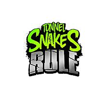 "FALLOUT 3 - ""Tunnel Snakes Rule"" Cool Typography Videogame T-Shirt Design Photographic Print"