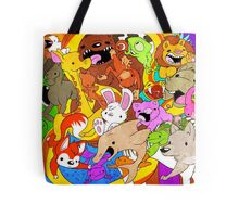 Time and Space - Floating Animals (In Color) Tote Bag