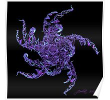 Fractal Purple People Eater Poster
