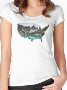 Explore USA Women's Fitted Scoop T-Shirt