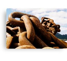 Chains of Old Canvas Print