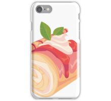 Strawberry Cream Dessert Roll iPhone Case/Skin