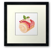 Strawberry Cream Dessert Roll Framed Print