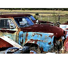 Rusty Blue    ( BoneYard Series ) Photographic Print