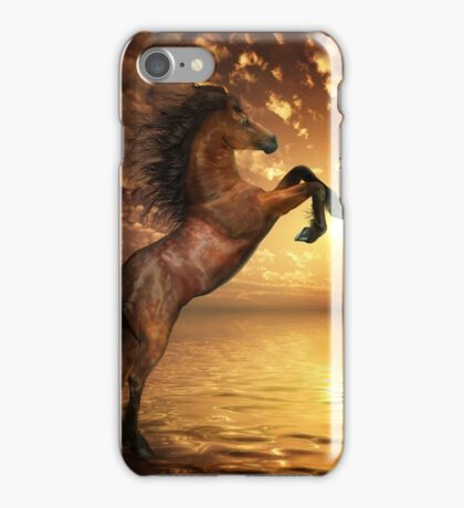 Freedom - Rearing Horse Artwork iPhone Case/Skin