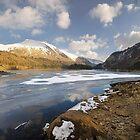 Thirlemere Reservoir Frozen Panorama by eddiej