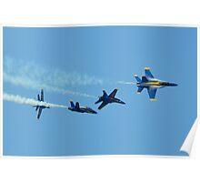 BLUE ANGELS - BREAK FORMATION  Poster