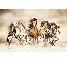 Galloping Horses - The Magnificent Seven Photographic Print