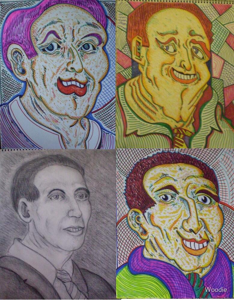 Walt's work x 4 by Woodie