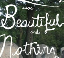 Everything was beautiful and nothing hurt. Sticker