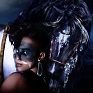 Midnight Ride - Iroquois Native American horse and rider by Shanina Conway