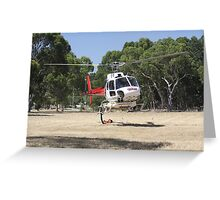 Firebomber Helicopter Greeting Card