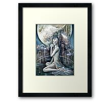The Sci-fi Beauty Framed Print