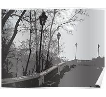 Chekhovs Motherland - Taganrog.Foggy morning. Poster