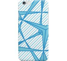 Pretty Patterned Pyramids in Blue iPhone Case/Skin
