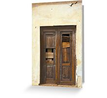 Sign of the Times - Brown Door Greeting Card