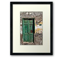 Sign of the Times - Green Door Framed Print