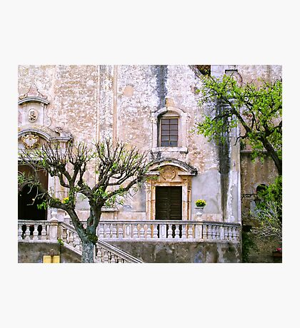 Taormina church detail II Photographic Print
