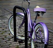 Lone Purple Bike by Paul Marotta