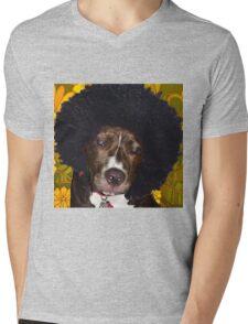 Psychedelic Pitbull Mens V-Neck T-Shirt
