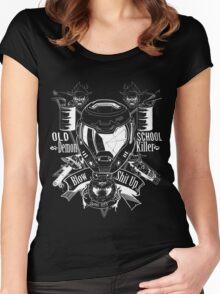 DOOM OLD SCHOOL DEMON KILLER Women's Fitted Scoop T-Shirt