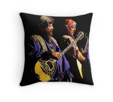 Renaissance Encounters : The Medieval Rock Band Throw Pillow