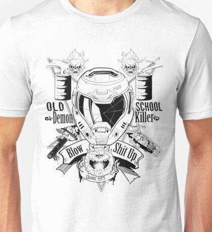 DOOM OLD SCHOOL DEMON KILLER V2 Unisex T-Shirt