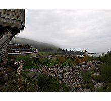 "Old Abandoned Shack with Boat ""Abandonship"" Photographic Print"