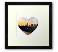New York Heart Framed Print