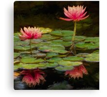 Impressions of pink lilies Canvas Print