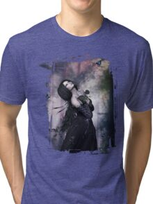 Black Rose ~ Gothic Art Tri-blend T-Shirt