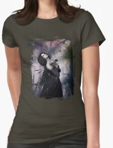 Black Rose ~ Gothic Art Womens Fitted T-Shirt